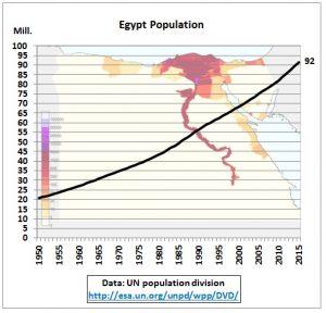 catastrofe egiziana demografia