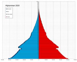 Afghanistan struttura della popolazione